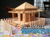 Membuat Miniatur Rumah Jepang Dengan Stik Kayu Es Krim