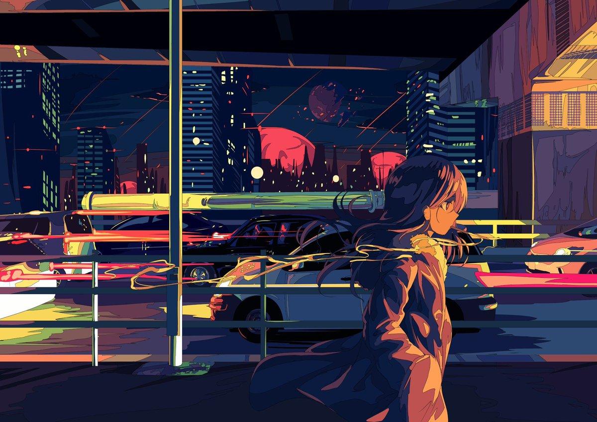 Ilustrasi Bergaya Retrowave Kawaii Karya BerryVerrine Yang Menarik Banyak Perhatian Publik