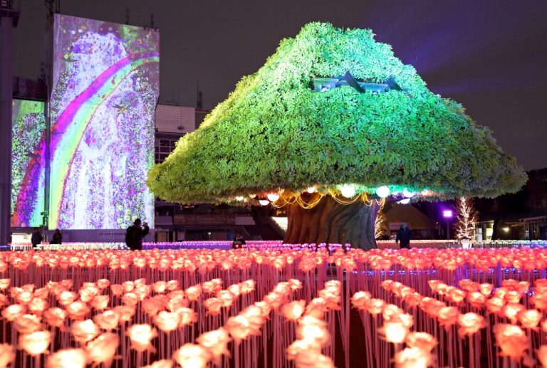 Menikmati Atraksi Iluminasi Cahaya Di Tokyo Menjelang Musim Semi ? Tentu Saja Bisa !