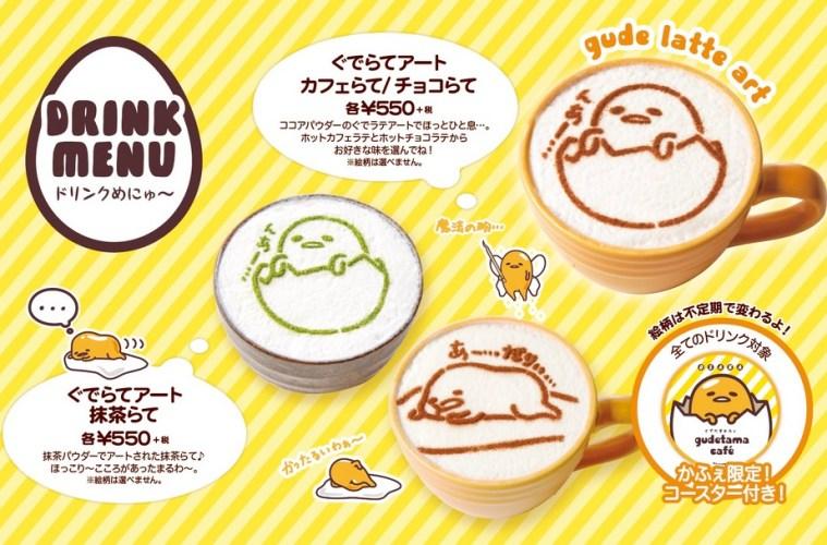Cicipi Unik Dan Lezatnya Teh Hijau Tiramisu Di Cafe Gudetama Prefektur Osaka !