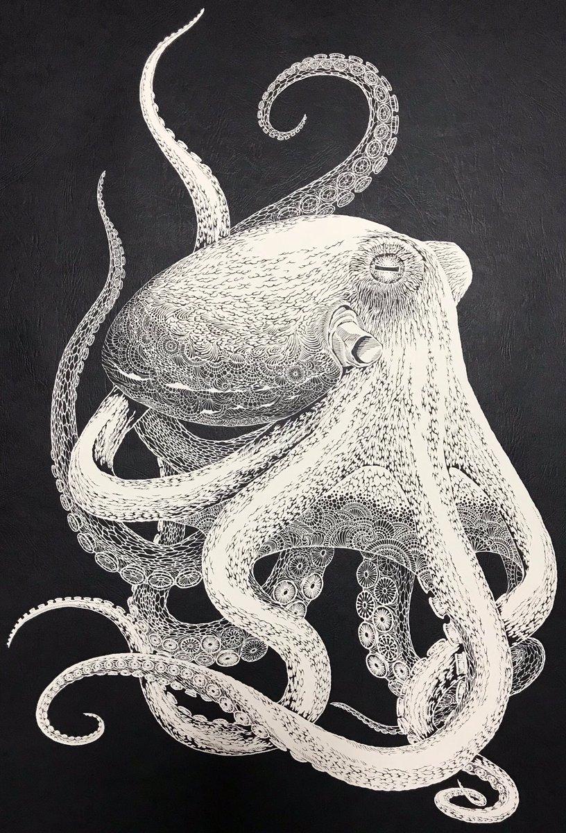 Seorang Seniman Senior Jepang Berhasil Ciptakan Hewan Gurita Dari Selembar Kertas