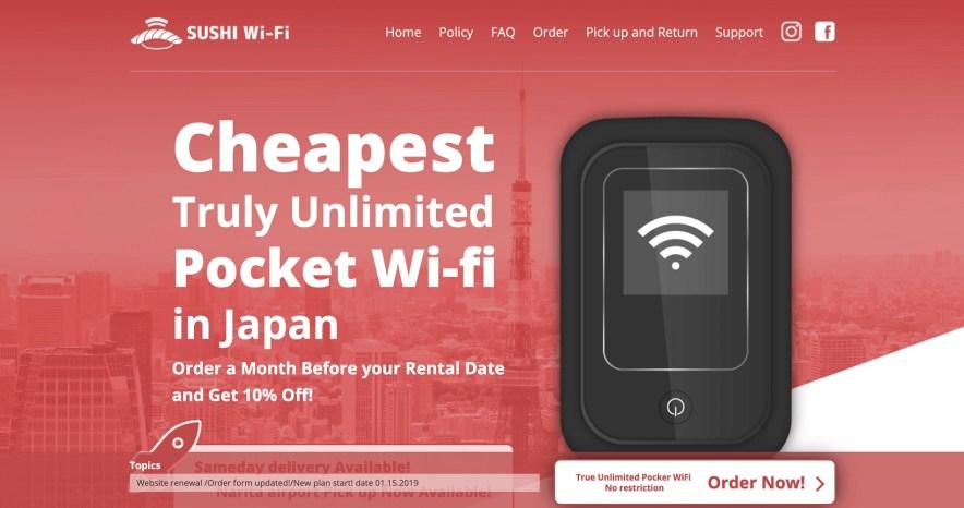 4 Layanan WiFi Portable Terbaik Yang Ada Di Jepang Untuk Tahun 2019-2020