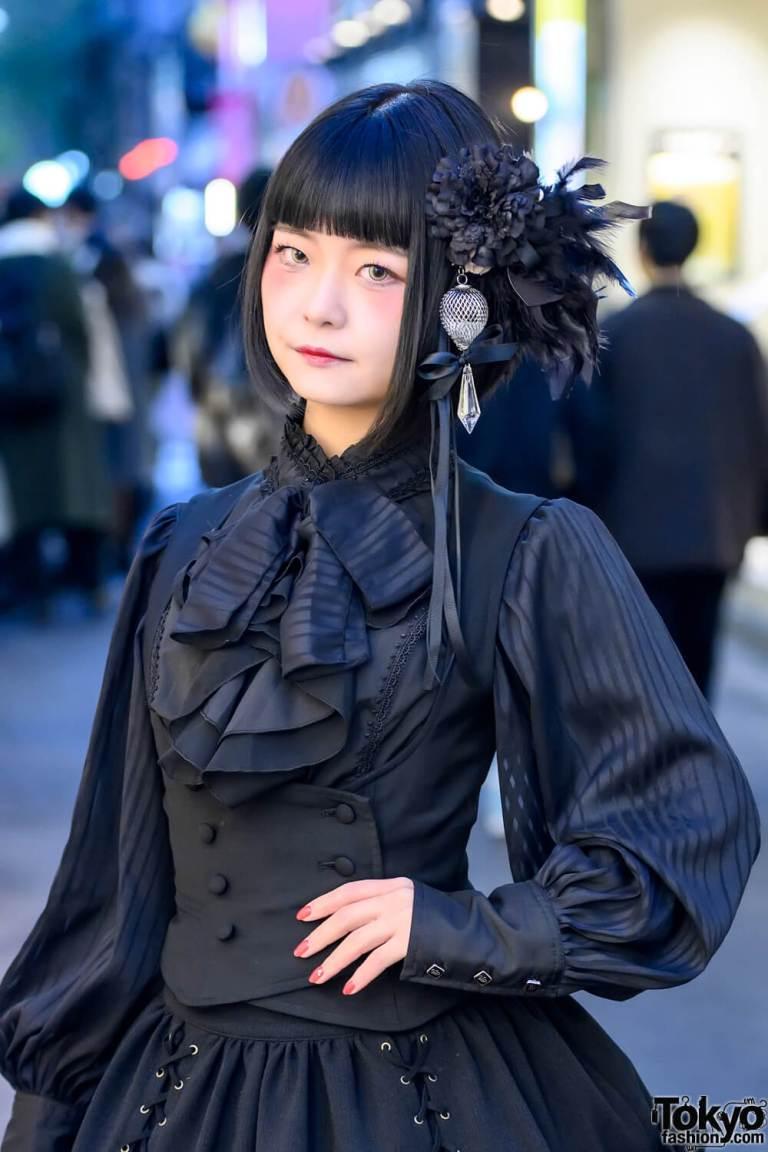 Fashion Jepang Lolita Gothic Yang Elegan Dengan Warna Serba Hitam Dari Sana Seine
