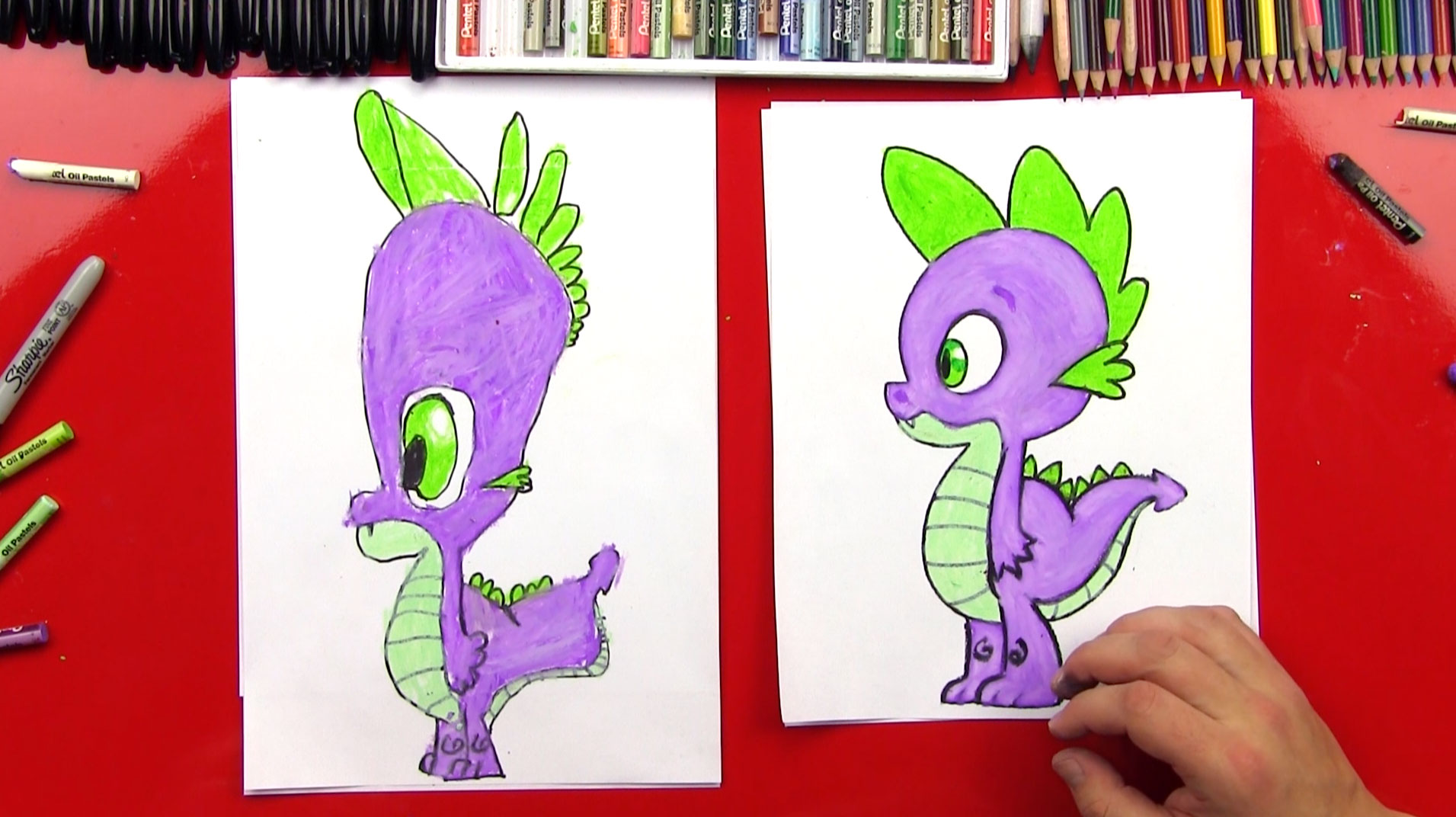 How To Draw Spike From My Little Pony Art For Kids Hub