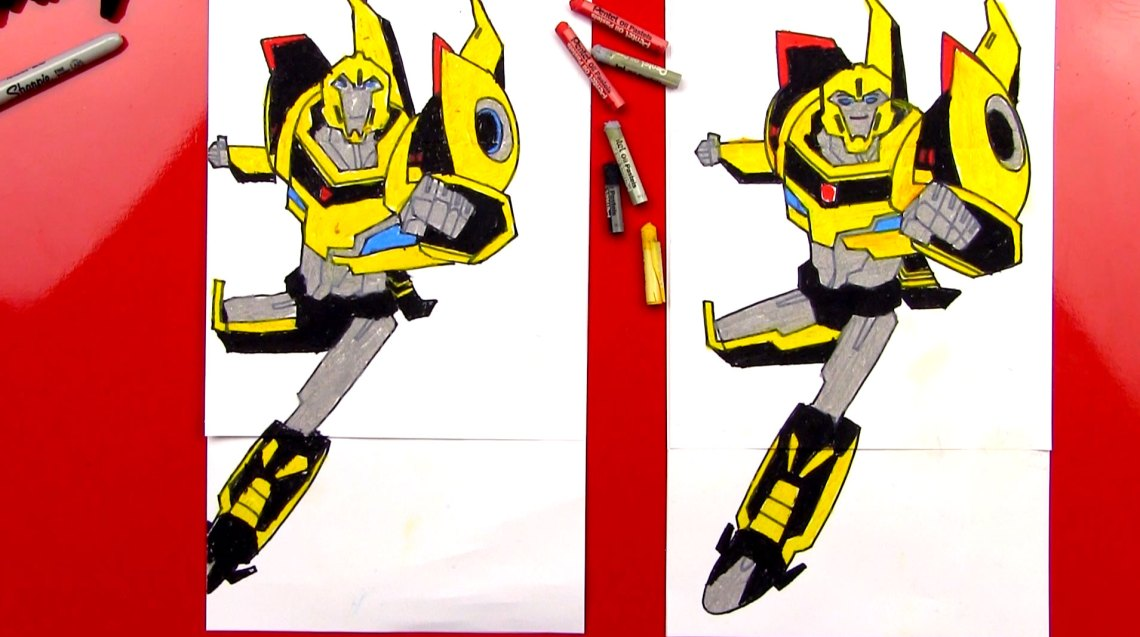 How To Draw Bumblebee Transformer - Art For Kids Hub
