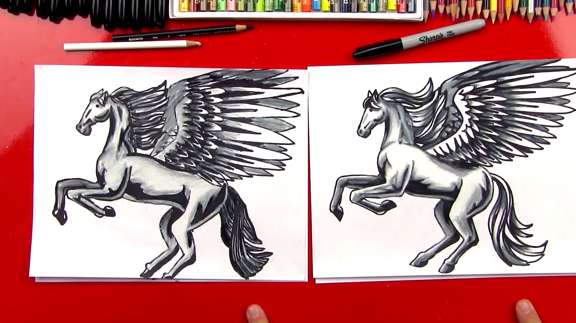 How To Color A Realistic Horse And Pegasus Part 3 Art