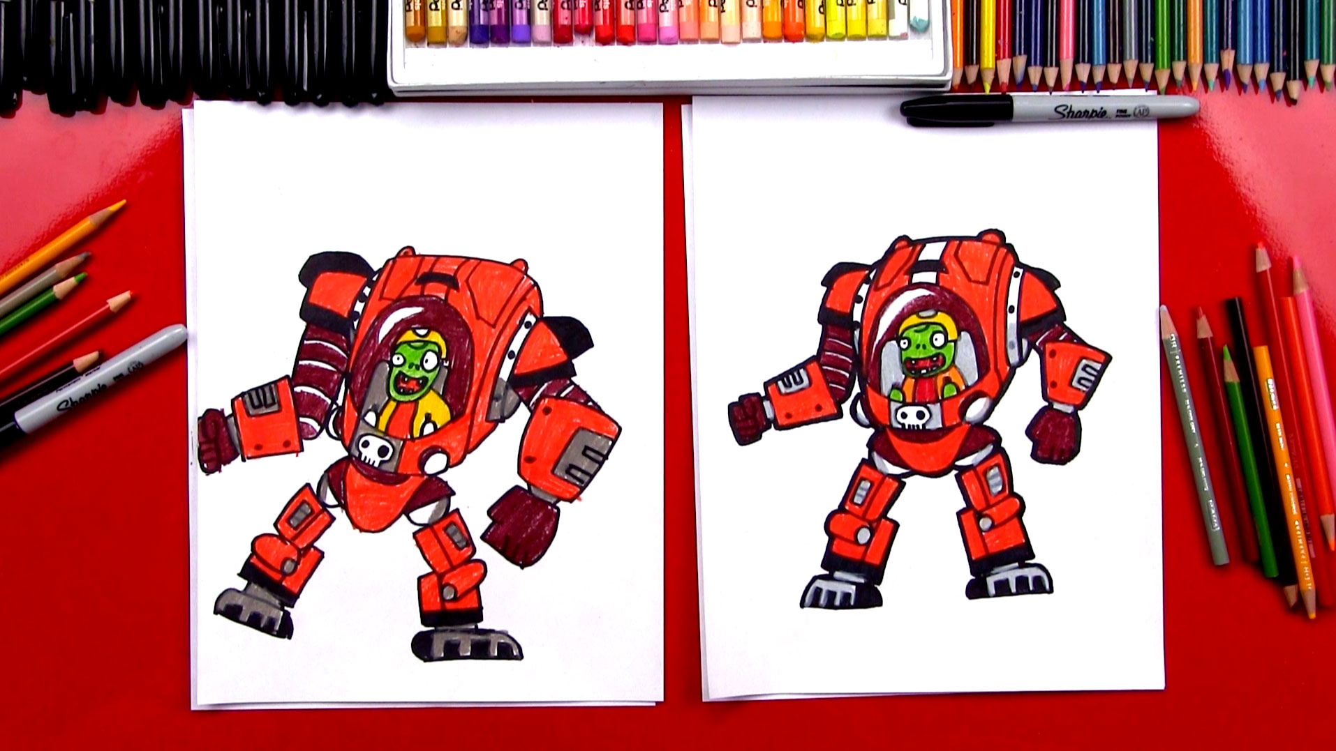 How To Draw Z Mech From Plants Vs Zombies Garden Warfare