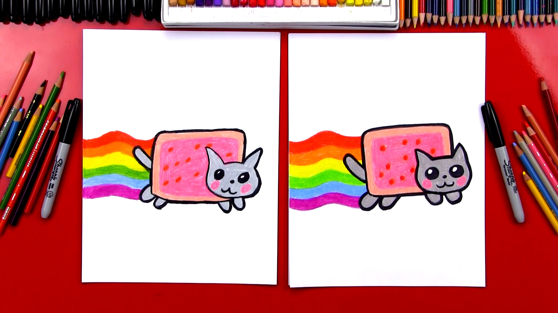 How To Draw The Nyan Cat Art For Kids Hub