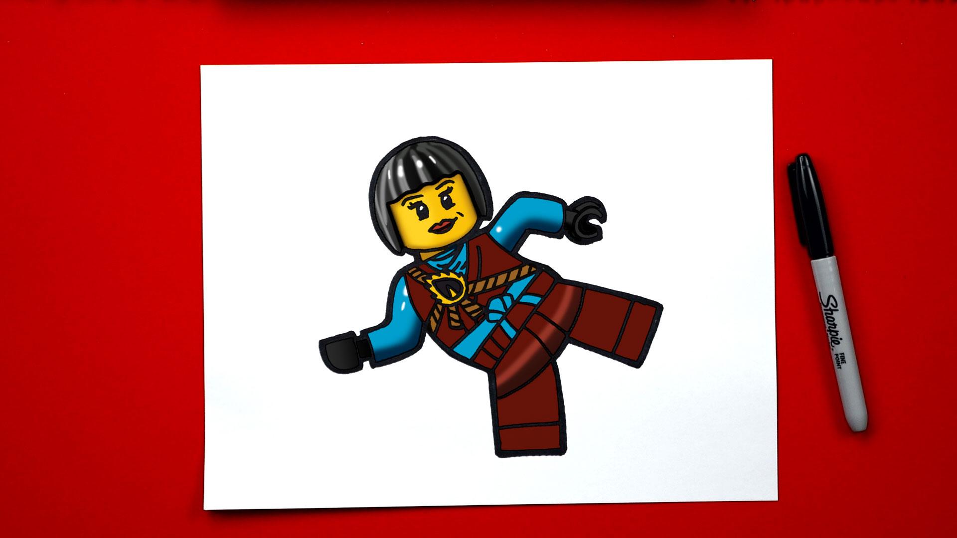 How To Draw Nya From Ninjago