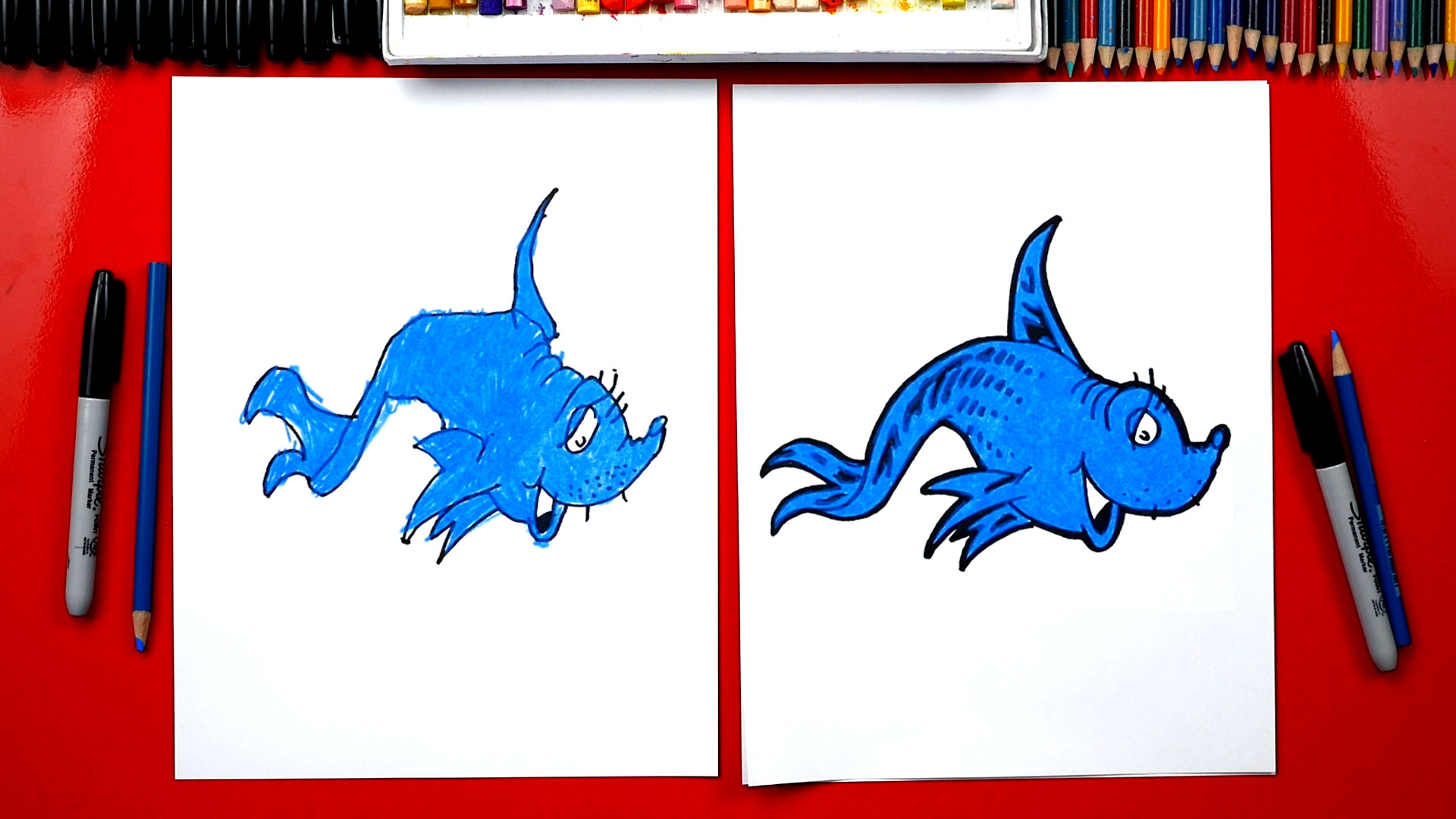 How To Draw Dr Seuss One Fish