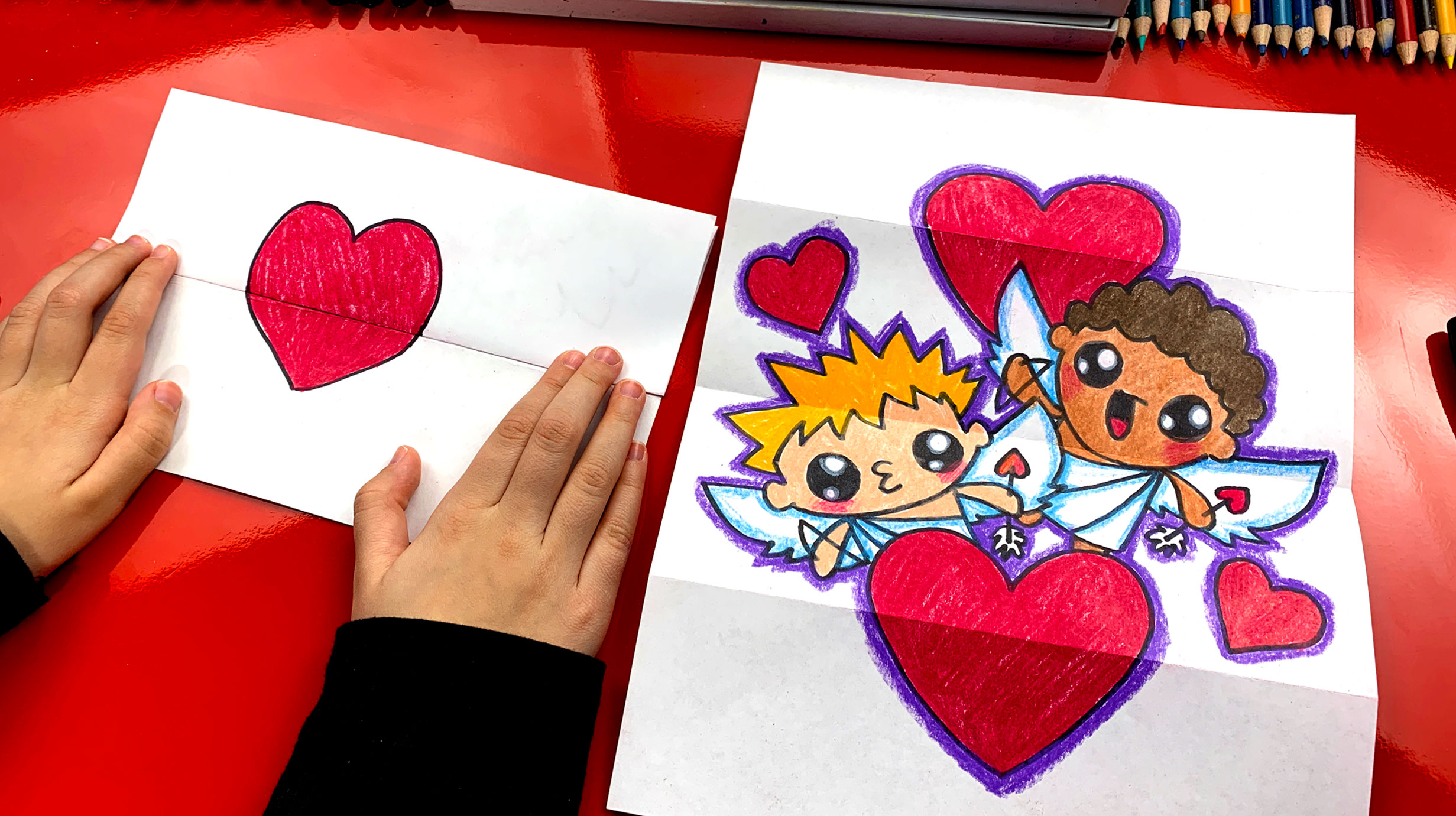 How To Draw A Valentine S Day Folding Surprise