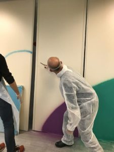 Teambuilding street art et relooking bureau