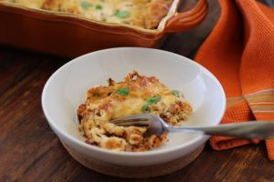 Gluten Free Italian Sausage Lasagna with Brown Rice Noodles | www.artfuldishes.com