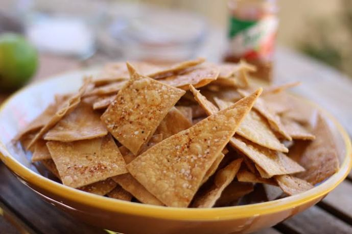 Brown Rice Tortilla Chips with Tajin