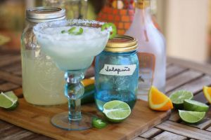 Jalapeno Lime Margaritas with Jalapeno Simple Syrup and Fresh Lime Juice | www.artfuldishes.com