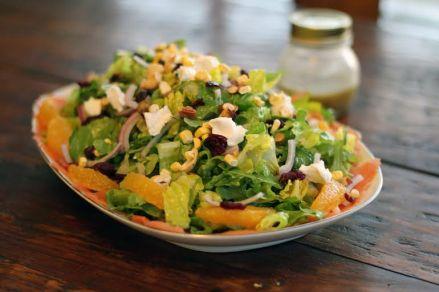 orange pistachio arugula salad