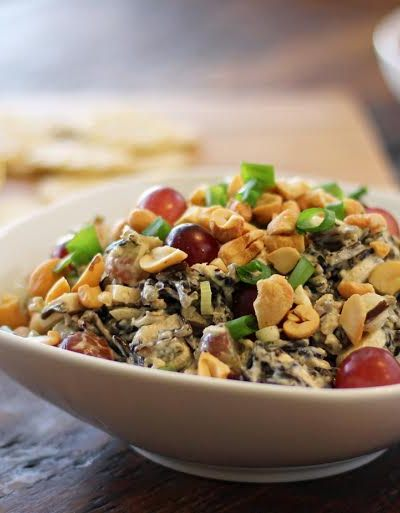 Wild Rice Salad with Chicken and Grapes