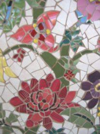 Mosaic Flower Tree Close Up