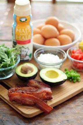 BLT Egg Bake Ingredients