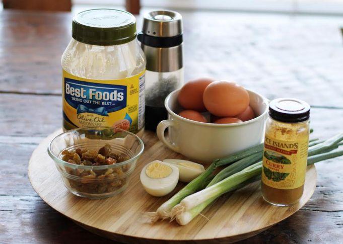 Curried Egg Salad Ingredients