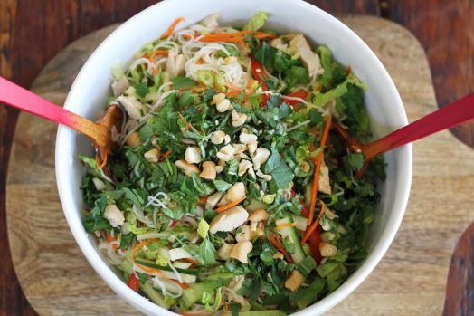 Giant Bowl of Rice Noodle Salad