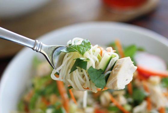 Close up of Rice Noodle Salad