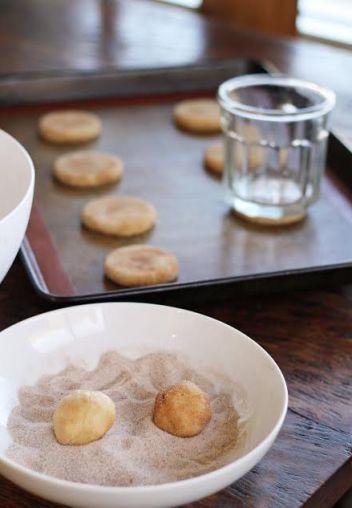 Rolling Snickerdoodle Cookies