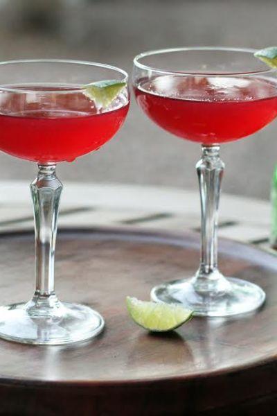 Raspberry Vodka Chambord Cosmopolitan
