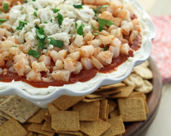 Seafood Party Dip with Crackers
