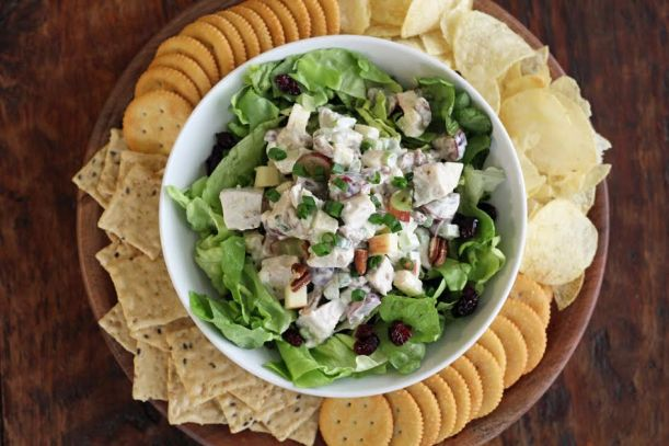 Turkey Pecan Waldorf Salad with Crackers Artful Dishes