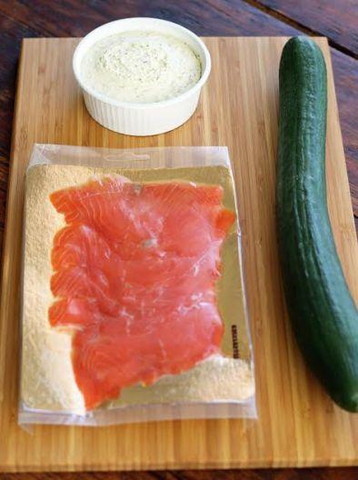 Elegant Cucumber Bites Ingredients