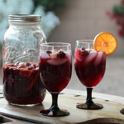 Festive Red Wine Sangria