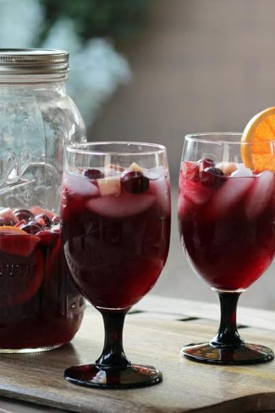 Festive Red Wine Sangria