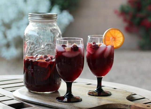 Festive Red Wine Sangria Artful Dishes