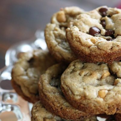 Browned Butter Butterscotch Chocolate Chip Muffin Pan Cookies!