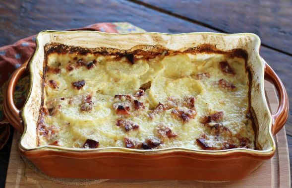 The Finished Smoky Scalloped Potatoes with Ham