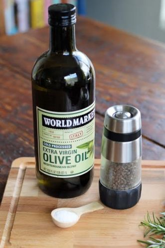 Three Ingredient Appetizer Freebie Ingredients Olive Oil, Kosher Salt and Pepper artfuldishes.com