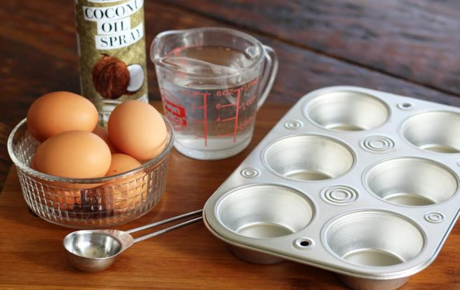 Ingredients and Tools for Oven Poached Eggs Muffin Tin | artfuldishes.com