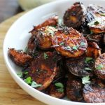 The Delicious Spicy Harissa Roasted Potatoes | artfuldishes.com