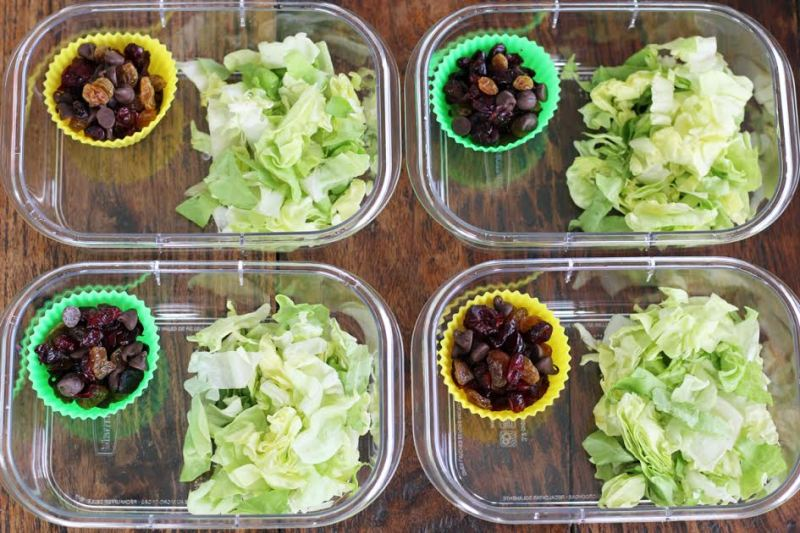 Chicken Salad Protein Boxes - Assembly | artfuldishes.com
