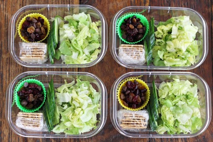 Chicken Salad Protein Lunch Box Assembly | artfuldishes.com