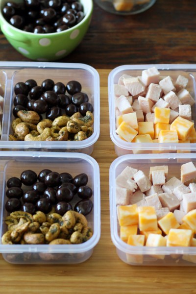 Protein Snack Boxes with Turkey and Cheese