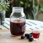 How to Make Blackberry Brandy - the Finished Homemade Blackberry Brandy | www.artfuldishes.com