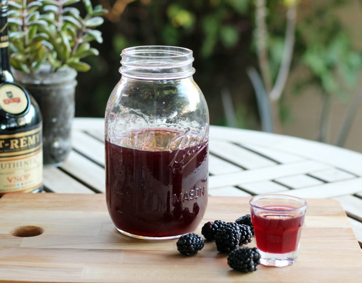 How to Make Blackberry Brandy - the Finished Homemade Blackberry Brandy | www.artfuldishes.com