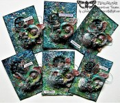 "Finnabair Art Recipe - ""Travel the Seas"" ATC set for Prima Marketing"