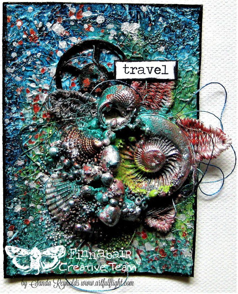 "Finnabair Art Recipe - ""Travel the Seas"" ATC set for Prima Marketing"