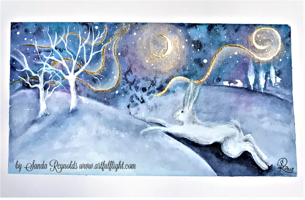 """Watercolour Play 2 """"The Leap"""""""