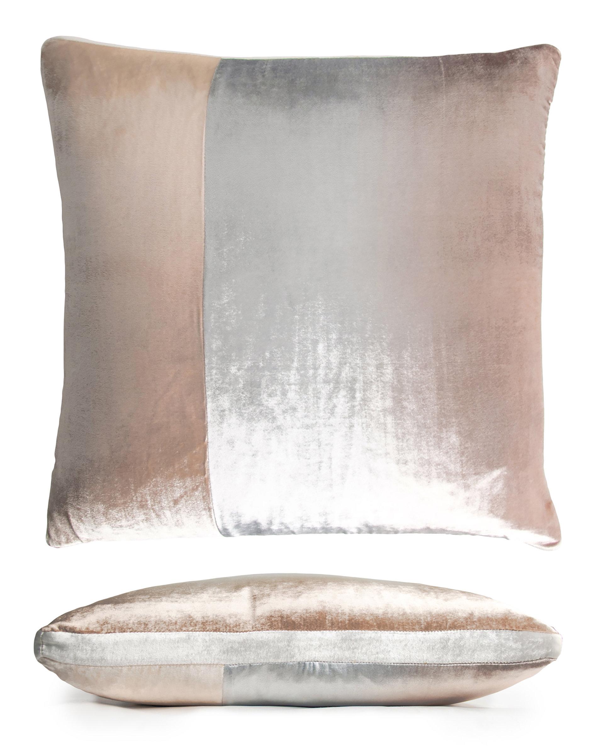 colorblock velvet pillow by kevin o brien silk velvet pillow artful home