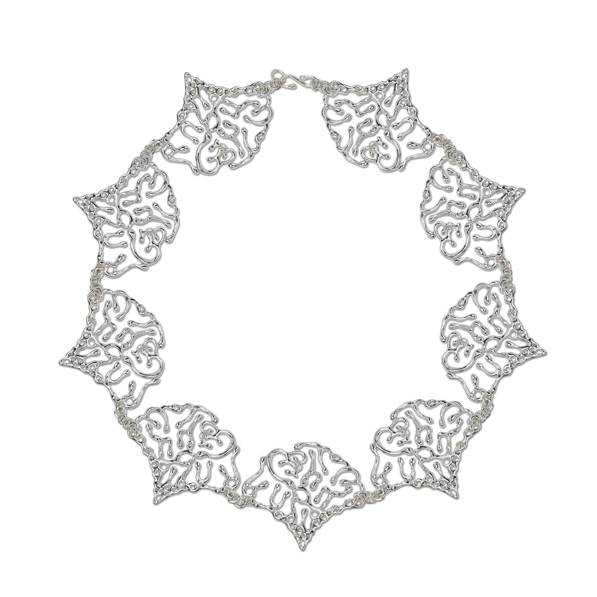 Ginkgo Biloba Leaf Necklace By Chiachien Tsai Silver