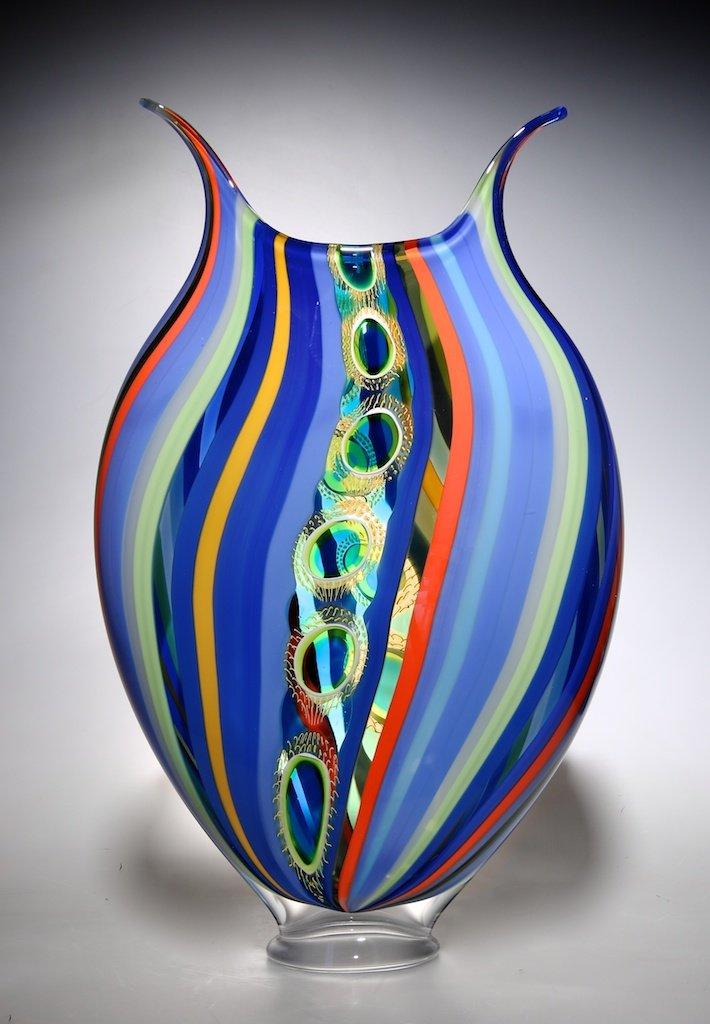 Passiflora Foglio By David Patchen Art Glass Vessel Artful Home